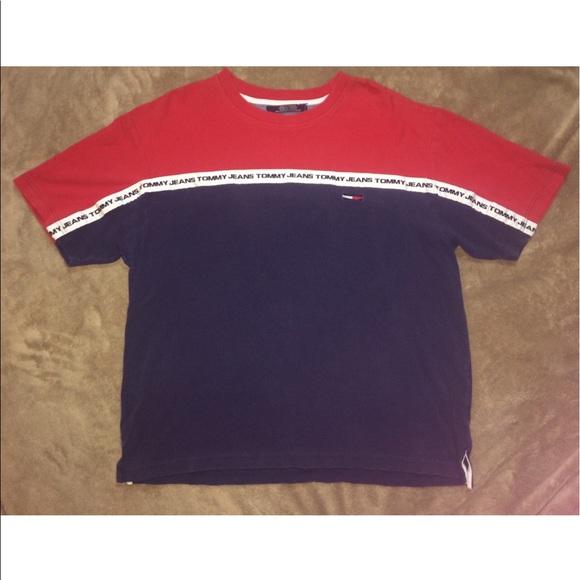 17abcdb2 Vintage Tommy Hilfiger Tommy Jeans logo t-shirt. M_5b6bee51c2e88e776d251021